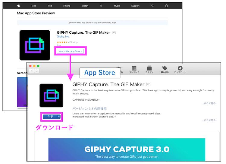 GIPHYのダウンロード