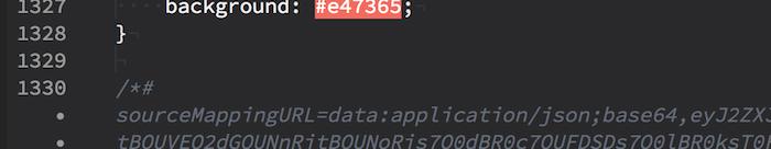 コンソール警告:DevTools failed to parse SourceMapの関連箇所2